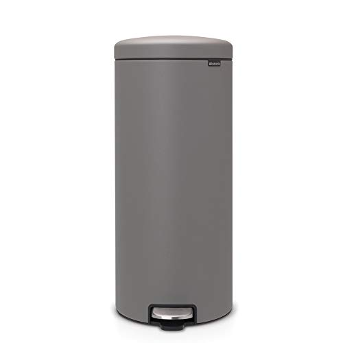 Cubo de Basura de Pedal, Mineral Gris hormigón, 30 litros