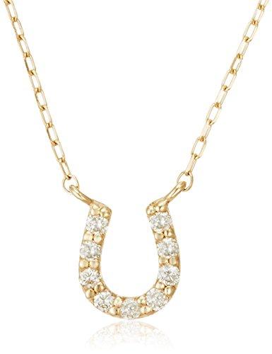 [VAヴァンドーム青山] VA VENDOME AOYAMA K10 YG ダイヤモンド 0.07ct 馬蹄 ネックレス GJVN033640DI