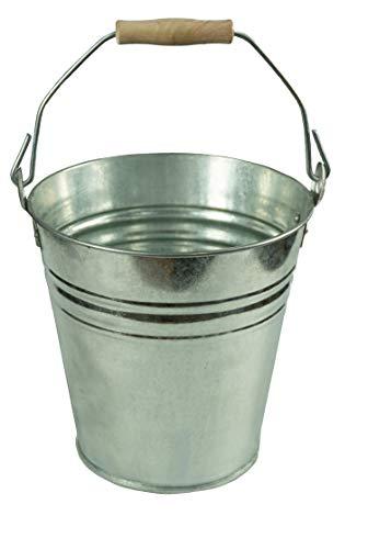 Hochwertiger Zinkeimer mit Holzgriff, Ascheeimer, versch. Größen (10 Liter, 1 Stück)