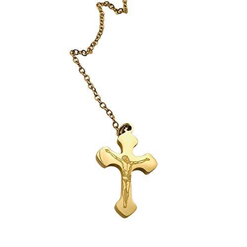 Collar famoso AISADI 20090721/10 para un regalo, cruz dorada antialergénica de acero inoxidable quirúrgico Bluebry TTM Xuping Moon Stainless Steel Sunlight