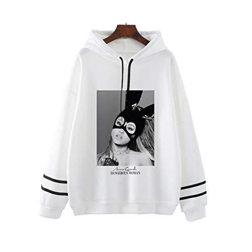 VERROL Ariana Grande Hoodie for Women, Trend Singer Ariana Grande Thank U Next Casual Sweatshirts Letter Print Hoodie Long Sleeve Pullover for Teen Girl