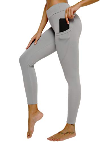 SHAPERIN Pantalones de compresión anticelulitis, para mujer, cintura alta, pantalones de yoga, pantalones de correr, pantalones para correr para fitness #7 gris S