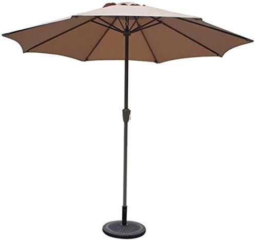 SHANCL Garden Parasol Sombrillas 9', Redondas, Mercado/Jardín/Sombrilla, UV70 +, Paraguas al Aire Libre for el balcón Mesa de la terraza Cubierta o el Patio (Color : Khaki)