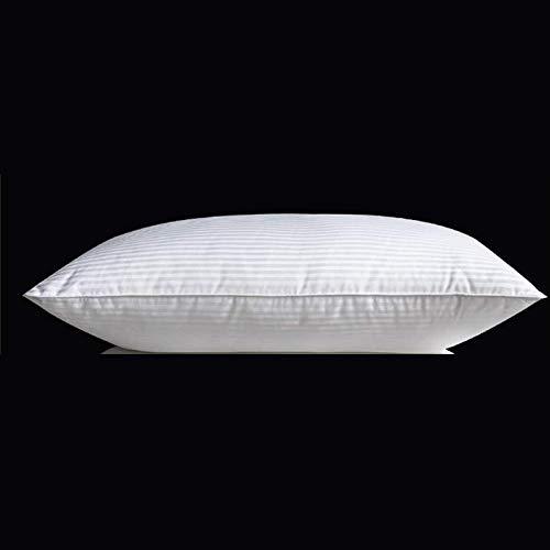 JONJUMP Mulberry Silk Pillow Hotel Bambino Adulto Sanitario Cuscini Cotone Raso Stripe Copertura Collo Guardia 800g