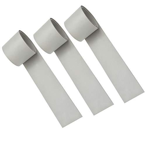 freneci 3 Piezas Impermeable Bote Inflable Bote Rib Mid PVC Parche de Reparación 51x1000mm