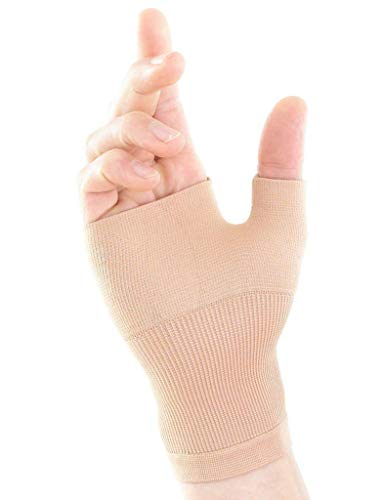 Neo G Wrist and Thumb Support - Ideal For Arthritis, Joint Pain, Tendonitis, Sprains, Hand Instability, Sports - Multi Zone Compression Sleeve - Airflow - Class 1 Medical Device - Small - Tan