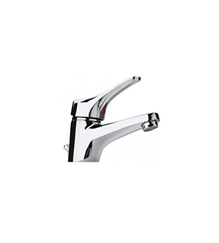 Miscelatore monocomando rubinetto per lavabo con piletta di scarico, Pilot Paini, colore cromo