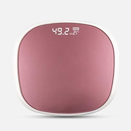 Báscula de peso para el hogar, báscula inteligente de composición de grasa corporal, escala 2, Bluetooth 5.0, prueba de equilibrio, balanza de peso, pantalla LED, color blanco y oro rosa