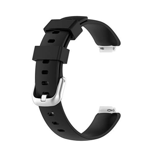 BSTQC Correa de silicona deportiva de repuesto impermeable y cómoda para mujeres y hombres, correa de reloj deportivo compatible con Fitbit inspire2 ace3