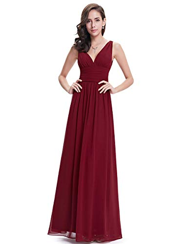 Ever-Pretty A-línea Largo Vestido de Noche Corte Imperio Cu