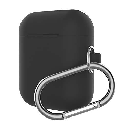 Protecitive val-afdekking voor Airpod koptelefoon dikke split anti-val-siliconen hoes met karabijnhaak voor Apple Airpods (zwart) val-afdekking skin, Baby Blue.