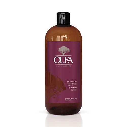 OLEA Champú con aceite de argán y linaza (1000 ml) sin sulfatos ni parabenos (champú con aceite de argán y linaza)