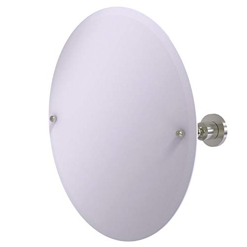 Allied Brass AP-90-SN 22-Inch Round Tilt Mirror, Satin Nickel