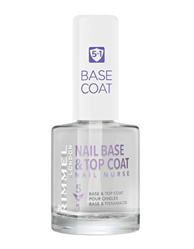 Rimmel London Nail Nurse Base & Top Coat 5 en 1 Tratamiento para uñas Tono 5 en 1 - 12 ml