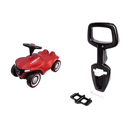 Big-Bobby-Car-Neo Rot - Rutschfahrzeug für drinnen und draußen, Kinderfahrzeug mit Flüsterreifen & Bobby Car Walker - 2-in-1 Lauflernhilfe und Rückenlehne in Einem, Griffhöhe bei 40cm