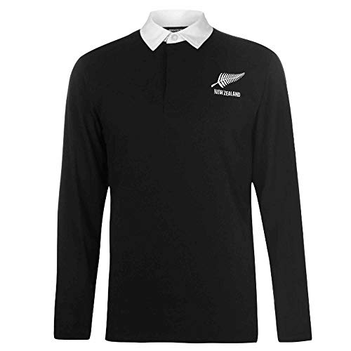 New Zealand Adults Retro Style Rugby Shirt (100% Cotton & Sizes S to 3XL) (X-Large)