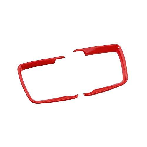 Coche interior faro cabeza interruptor luz interruptor decoración marco TRIM etiqueta engomada para BMW F30 F31 F32 F34 3 4 Series 320 E46 E90 E39 (rojo)