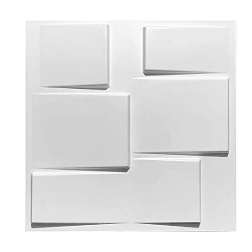 DGFDS 3D Papel Pintado, 3D Paneles De La Pared DIY Impermeable Papel Pintado 3D Ladrillo Pared Azulejos Decorativos Interior Paneles 3D Placa Mural Pared Panel 19.7'X 19.7' / 10 Piezas
