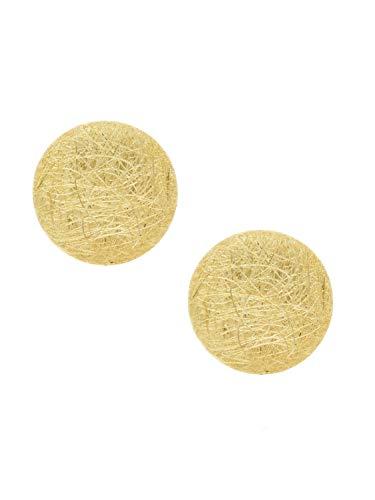 MyGold dames oorbellen oorstekers steker geelgoud 375 goud (9 karaat) zonder steen ronde plaat piercing tunnels gouden steker cadeau-ideeën Justina O-00936-G604