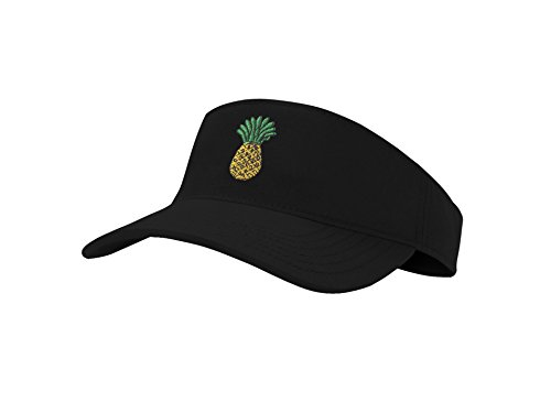 Sun Pineapple Visor Hat Classic Unisex 100% Cotton Cool Sporting Visor with Small Embroidery - Best Visor for Running, Workouts and Outdoor Activities,1 Pineapple,Large