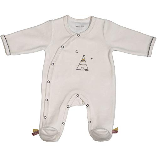 Pyjama bébé beige 1 mois Timouki - Sauthon