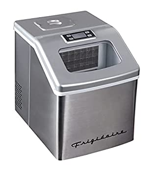 FRIGIDAIRE EFIC452-SS 40 Lbs Extra Large Clear Maker Stainless Steel Makes Square Ice