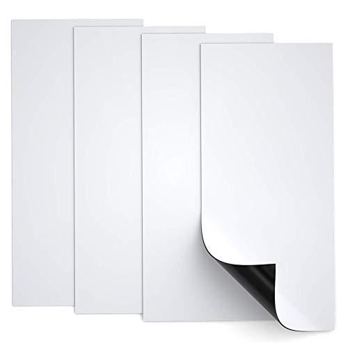 SJHPX Aire de ventilación Cubierta Campana, Rejilla de ventilación, Imán Adhesivo, Doble Espesor, Se Puede Cortar a Cualquier Tamaño, 5.5 '' x 12 '', Blanco