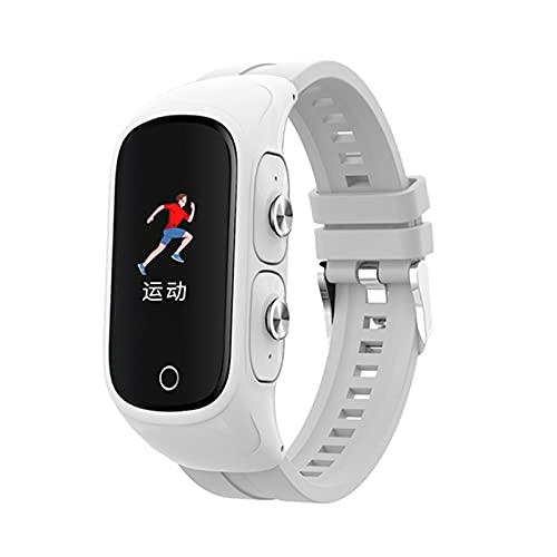 Sport Smart Watch avec écouteurs sans Fil Bluetooth 5.0 Appeler Tendeur Cardiaque Pression artérielle Smartwatch Hommes Femmes Fitness Tracker (Color : All White)