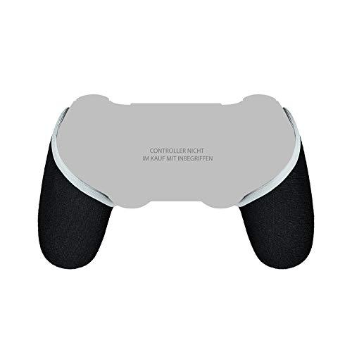 Smartgrip - Schwarz/Weiß - Der ultimative PS4 Controller Überzug/Hülle mit patentierter Technologie - Made in Germany (Weiß)