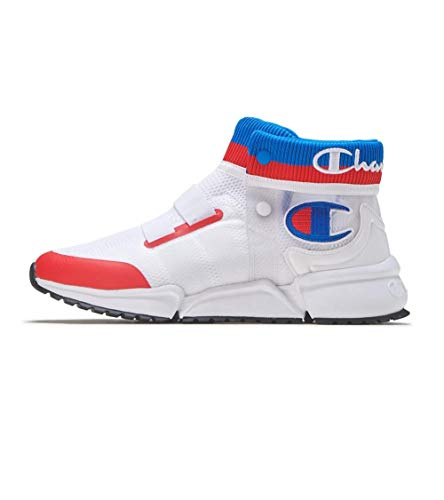 Champion Big Kids Rally Future Sneaker, White/Red Flame, 6