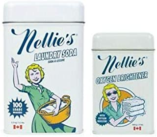 Nellie's Laundry Soda (3.3 lbs for 100 loads) and Nellie's Oxygen Brightener - Cleaning Combo Package
