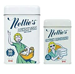 The Laundry Soda that you know and love! Nellie's LAUNDRY SODA is perfect for every household. Its highly concentrated formula dissolves quickly in cold or hot water, rinses thoroughly and leaves no residue that makes fabrics stiff and irritating. FR...