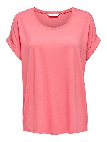 ONLY Damen ONLMOSTER S/S O-Neck TOP NOOS JRS T-Shirt, Tea Rose, XL