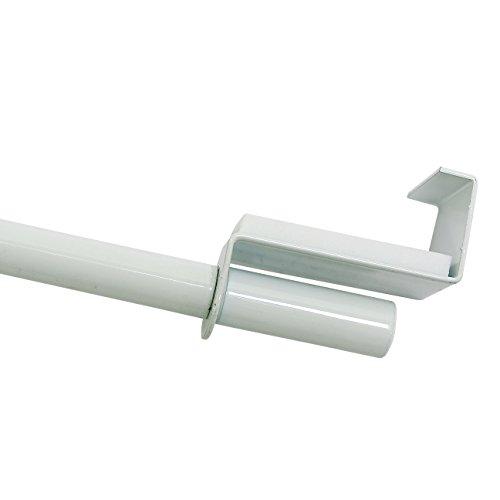 GARDINIA Spannvitrage, Ausziehbar, Montage ohne Schrauben und Bohren, Durchmesser 9 mm, Länge 120-160 cm, Metall, Weiß