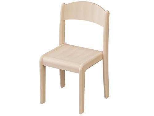 edu fun 43285 Stapelstuhl 2-er Set Kinderstuhl Buche Sitzhöhe 35 cm 2-er Set Kindermöbel Kindergartenerprobt