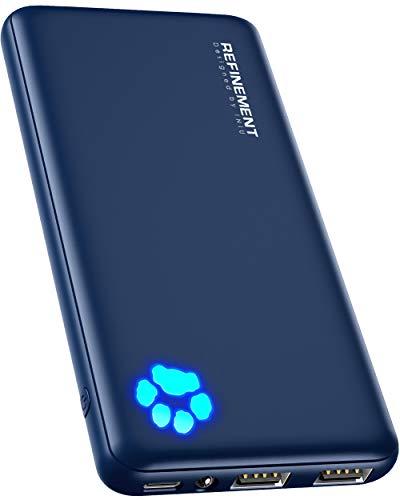 INIU Power Bank, Ultradünner USB C 10000 mAh Externer Akku, DREI 3A-Ausgänge Handy Powerbank mit Taschenlampe für iPhone Samsung Galaxy Huawei Oneplus Xiaomi Google iPad Airpods Tablette und mehr.