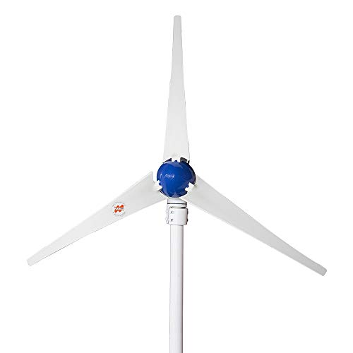 Marsrock 12V or 24V DC Output 400W Horizontal Wind Turbine Generator with Built-in Controller for Low Start-up Wind Speed Small Home Wind Turbine Generator Kit (3 Blades)