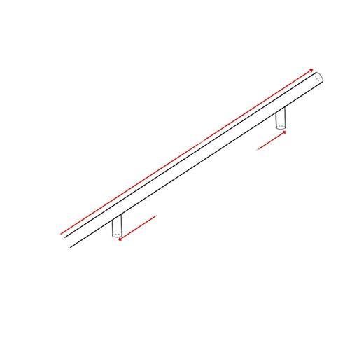 Manilla de acero inoxidable para puerta de cocina de 5 cm ~ 50 cm de diámetro de 10 mm de acero inoxidable para muebles