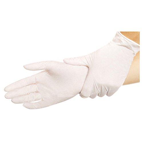 Hygostar SAFE TENDER Nitril-Handschuhe | weiß | Gr. M | 100 Stück | puderfrei | Einweghandschuhe | Einmalhandschuhe | unsteril