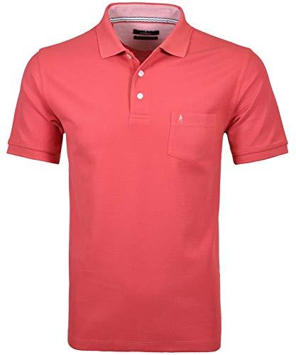 Ragman Herren Poloshirt, Koralle, 3XL