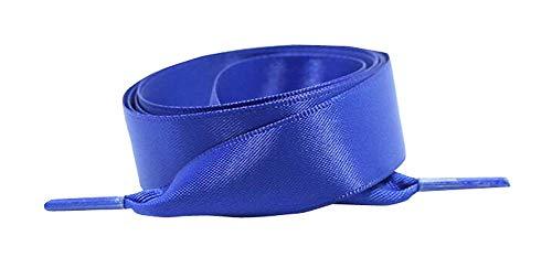 Jingyunstore Cordones de Zapato de Seda de 120 cm atléticos Cordones para Zapatos de Scooter 2 Pares Azul Brillante