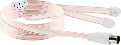 SCHWAIGER -20396- UKW Antenne für Innen / UKW Wurfantenne / FM Radioantenne / Antenne für Radios, Stereoanlagen, HiFi Audio Anlagen, Receiver, TV Fernsehr / Transparent / Dipol Länge 1,8 Meter