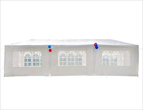 GOJOOASIS 3x9m Partyzelt UV-Schutz Gartenzelt Hochzeit Festzelt 110g/m² PE Pavillon mit 8 Seitenteilen