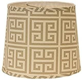 AHS Lighting SD1512-10WD Greek Key Drum Lamp Shade with Washer, 10