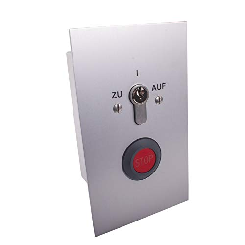 Schlüsseltaster unterputz zweiseitig tastend mit Stoppfunktion Torantriebe Garagentorantriebe BFT (Gleichschließend)