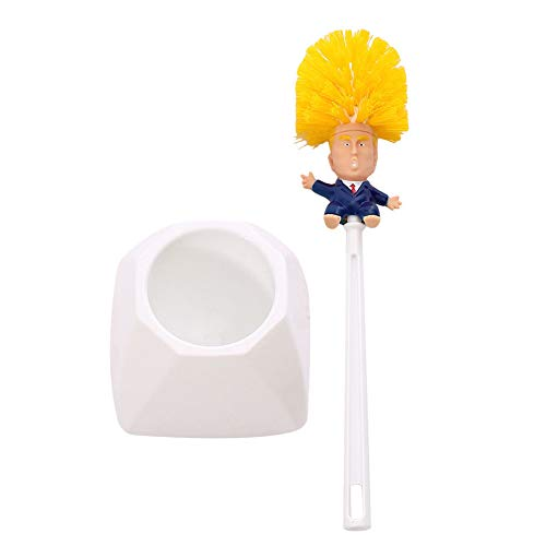shentaotao Cartoon Donald Trump Toilettenbürste Mit Halter Make Wc Great Again Lustige Trump Reiniger Scheuersaugmaschine Für Badezimmer Intensivreinigung