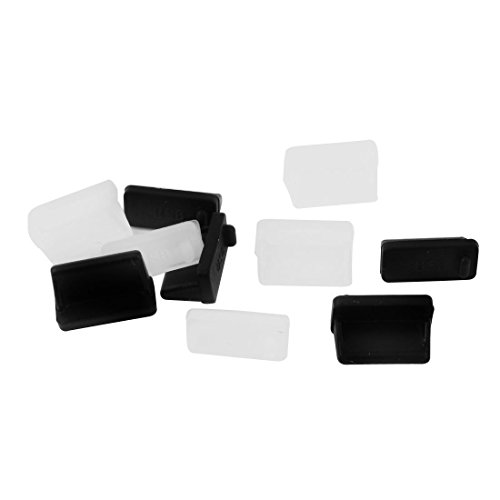 anti-polvo tapa - TOOGOO(R) Puerto USB Protector anti-polvo enchufe tapa para hembra de acoplamiento 10 piezas negro translucido