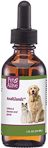 PetAlive AnalGlandz - Natural Herbal Cleansing Solution for The Anal Glands of Dogs and Cats - 59 mL