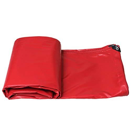 JT- Parasol Tissu épais imperméable imperméable à la Pluie en Plein air Parasol Tissu Huile Chiffon Protection Solaire Toile de bâche Camion bâche Toile Durable (Color : Red, Size : 3x5m)
