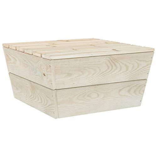 vidaXL Fichtenholz Imprägniert Gartentisch Balkontisch Couchtisch Beistelltisch Holztisch Tisch Terrassentisch Gartenmöbel 60x60x30cm